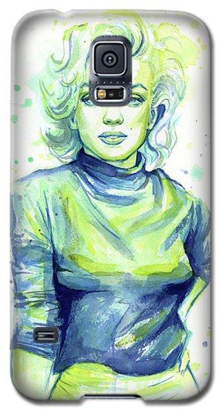Marilyn Monroe Galaxy S5 Case by Olga Shvartsur