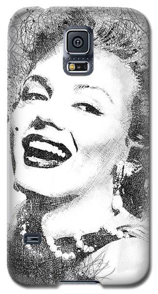 Marilyn Monroe Scribbles Portrait Galaxy S5 Case