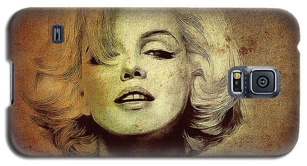 Galaxy S5 Case featuring the photograph Marilyn Monroe Star by Ericamaxine Price