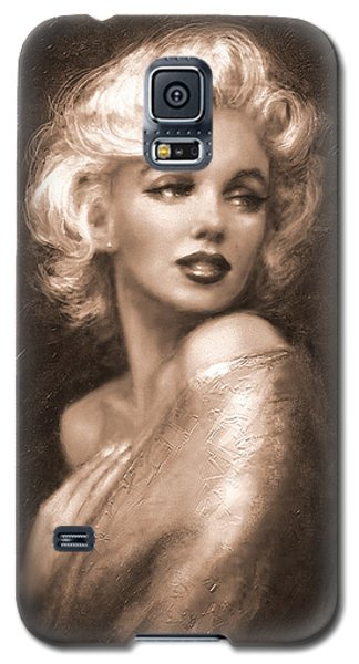 Marilyn Ww Sepia Galaxy S5 Case