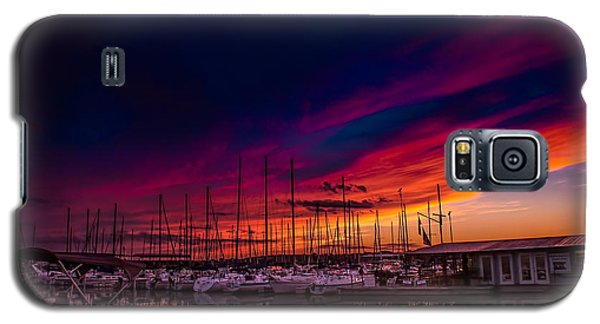 Marina Sunset Galaxy S5 Case by TK Goforth