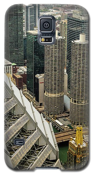 Galaxy S5 Case featuring the photograph Marina Towers From Above by Andrew Soundarajan