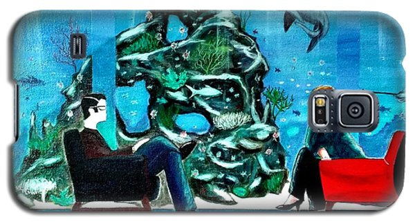 Marinelife Observing Couple Sitting In Chairs Galaxy S5 Case
