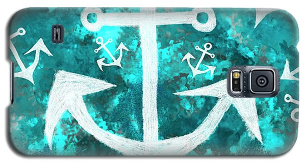 Maritime Anchor Art Galaxy S5 Case