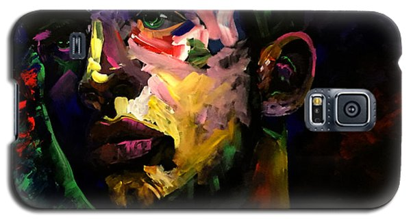 Galaxy S5 Case featuring the painting Mark Webster Artist - Dave C. 0410 by Mark Webster Artist
