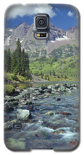 210404-maroon Bells And Creek  Galaxy S5 Case