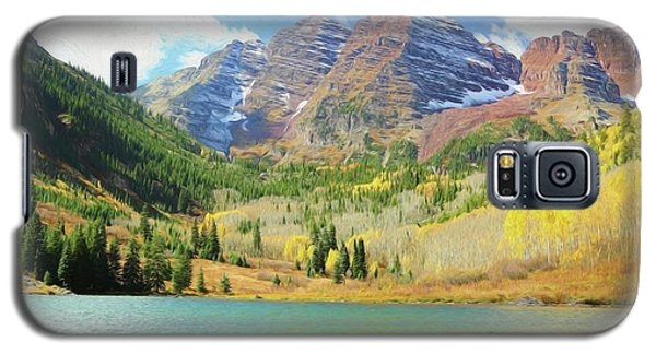 Galaxy S5 Case featuring the photograph The Maroon Bells Reimagined 2 by Eric Glaser