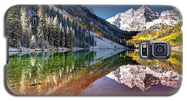 Olena Art Sunrise At Maroon Bells Lake Autumn Aspen Trees In The Rocky Mountains Near Aspen Colorado Galaxy S5 Case