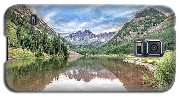 Galaxy S5 Case featuring the photograph Maroon Bells Near Aspen, Colorado by Peter Ciro