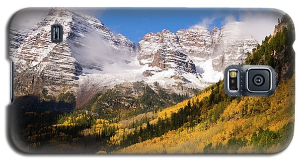 Galaxy S5 Case featuring the photograph Maroon Bells by Steve Stuller