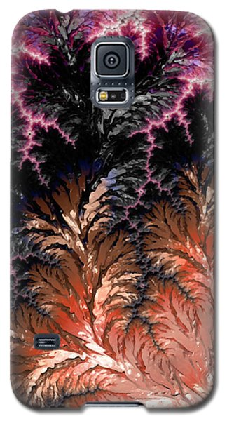 Maroon, Black And Orange Fractal Design Galaxy S5 Case