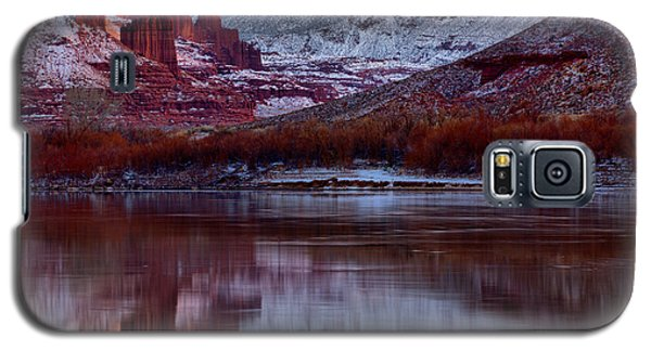 Galaxy S5 Case featuring the photograph Maroon Fisher Towers by Adam Jewell