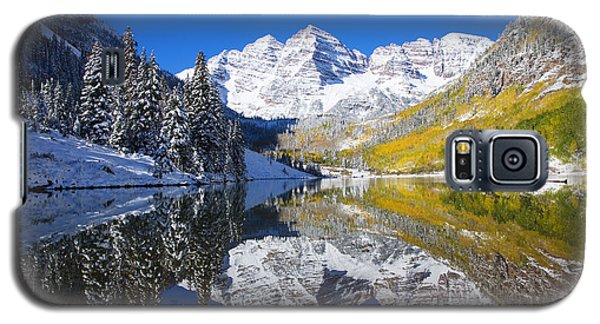Maroon Lake And Bells 1 Galaxy S5 Case by Ron Dahlquist - Printscapes