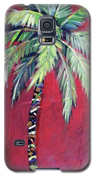 Maroon Palm Tree Galaxy S5 Case