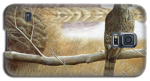 Galaxy S5 Case featuring the painting Marsh Hawk by Laurie Stewart