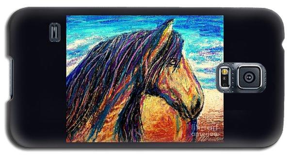 Marsh Tacky Wild Horse Galaxy S5 Case by Patricia L Davidson