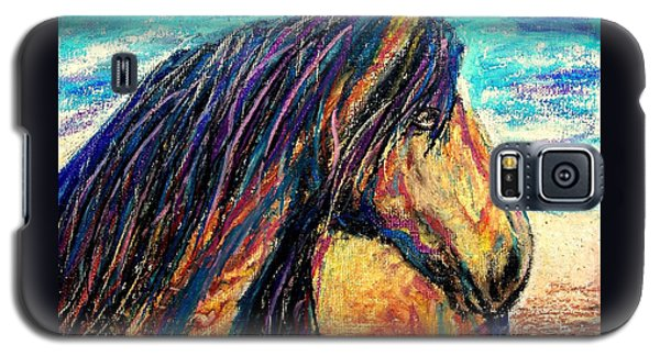 Galaxy S5 Case featuring the painting Marsh Tacky Wild Horse by Patricia L Davidson