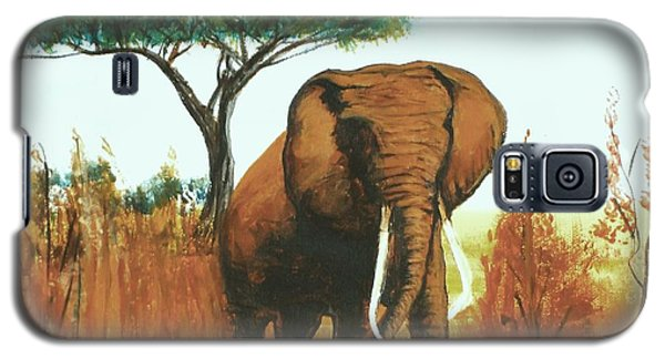 Galaxy S5 Case featuring the painting Marsha's Elephant by Donna Dixon