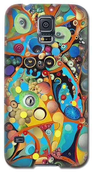 Galaxy S5 Case featuring the painting Martian Venusian by Douglas Fromm