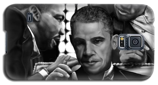 Barack Obama Galaxy S5 Case - Martin Malcolm Barack And The Red Rose by Reggie Duffie