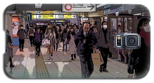 Marunouchi Line, Tokyo Metro Japan Poster Galaxy S5 Case