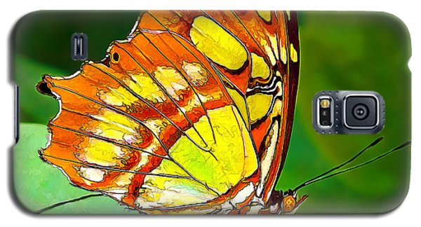 Marvelous Malachite Butterfly Galaxy S5 Case