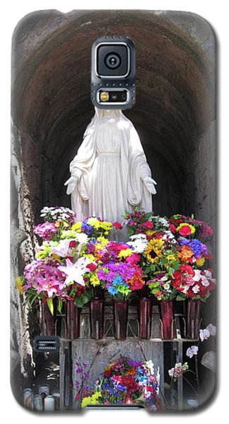 Galaxy S5 Case featuring the photograph Mary At The Mission by Mary Ellen Frazee