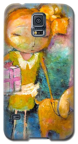Galaxy S5 Case featuring the painting Mary Had A Little Dog by Eleatta Diver