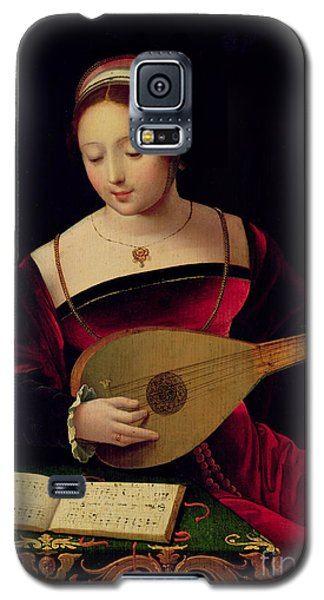 Religious Galaxy S5 Case - Mary Magdalene Playing The Lute by Master of the Female Half Lengths