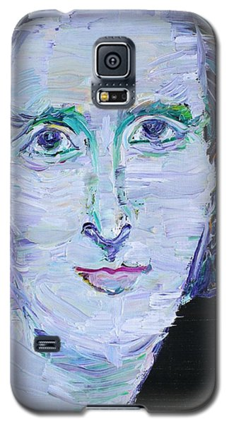 Galaxy S5 Case featuring the painting Mary Shelley - Oil Portrait by Fabrizio Cassetta