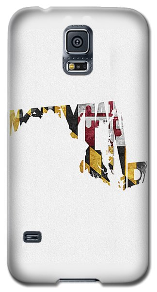 Maryland Typographic Map Flag Galaxy S5 Case