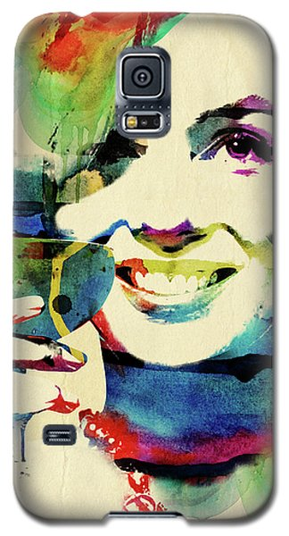 Marilyn And Her Drink Galaxy S5 Case by Mihaela Pater