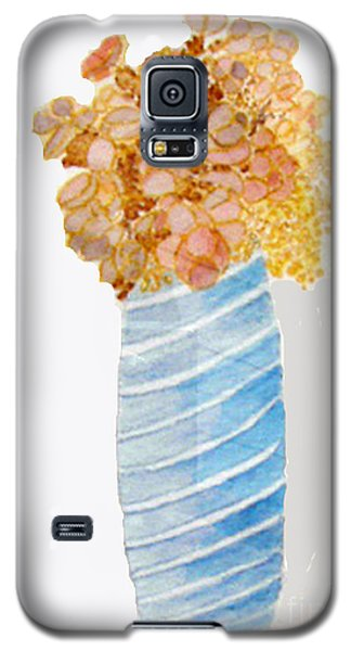 Galaxy S5 Case featuring the painting Mary's Flowers by Sandy McIntire
