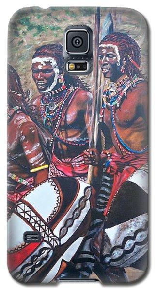 Blaa Kattproduksjoner       Masaai Warriors Galaxy S5 Case