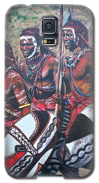 Masaai Warriors Galaxy S5 Case by Sigrid Tune