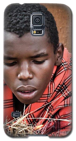 Galaxy S5 Case featuring the photograph Masai Firemaker by Karen Lewis