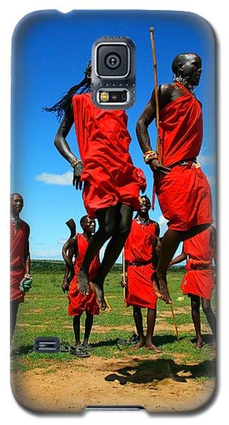 Masai Warrior Dancing Traditional Dance Galaxy S5 Case