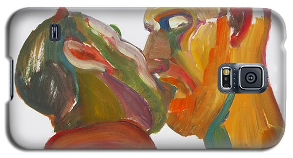 Galaxy S5 Case featuring the painting Masculine Kiss by Shungaboy X