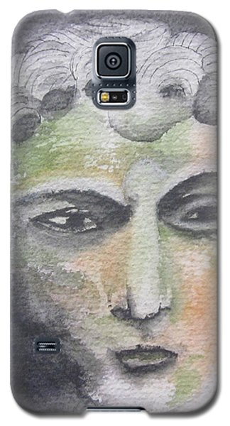 Galaxy S5 Case featuring the painting Mask II by Teresa Beyer