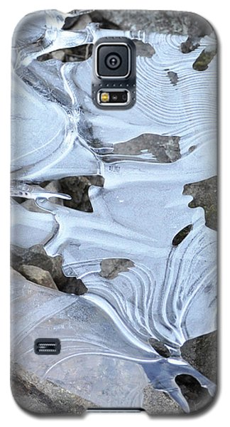 Galaxy S5 Case featuring the photograph Ice Mask Abstract by Glenn Gordon