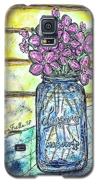 Mason Jar Bouquet Galaxy S5 Case
