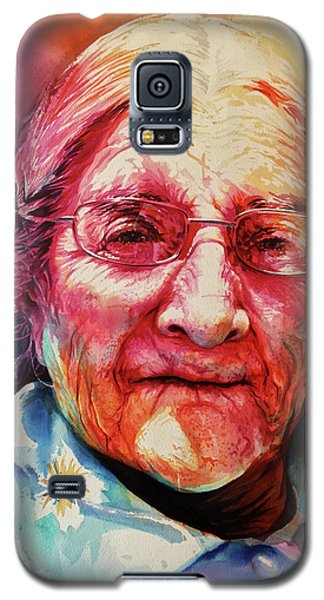Galaxy S5 Case featuring the painting Windows To The Soul by J- J- Espinoza