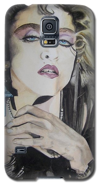 Galaxy S5 Case featuring the painting Material Girl by Lance Gebhardt