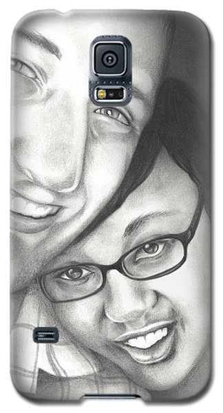 Galaxy S5 Case featuring the drawing Matt And Jasmine by AC Williams