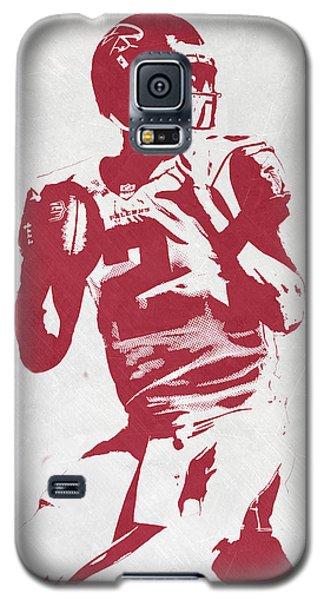Matt Ryan Atlanta Falcons Pixel Art 2 Galaxy S5 Case by Joe Hamilton