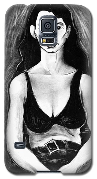 Galaxy S5 Case featuring the drawing Mattie by Al Goldfarb