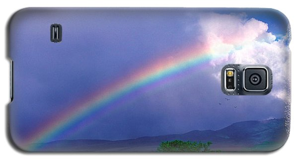 Galaxy S5 Case featuring the photograph Maui Rainbow by Marie Hicks