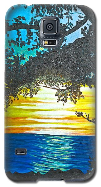 Galaxy S5 Case featuring the painting Maui Sunset by Donna Blossom