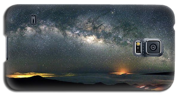 Mauna Kea Milky Way Panorama Galaxy S5 Case