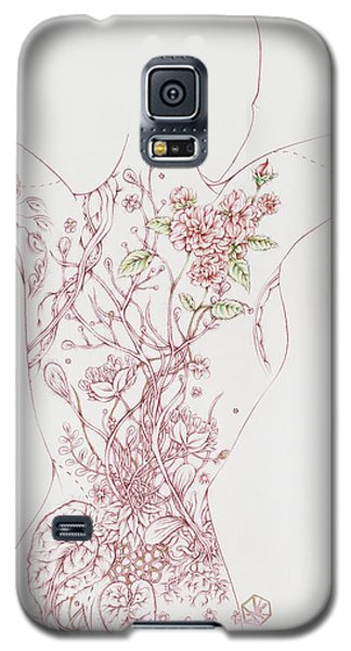 Galaxy S5 Case featuring the drawing Maureen by Karen Robey